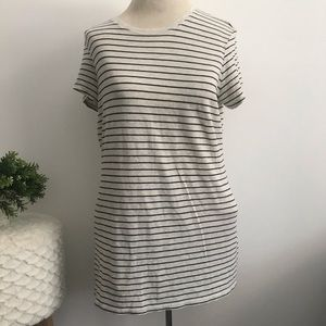 Vince grey and black striped short sleeve top